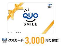 ◇◆クオカード3000円分◆◇クオカード付きプラン☆ご出張の方はご利用下さいませ。