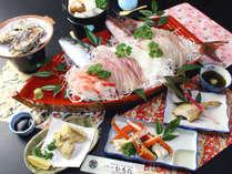 大満足!ピッチピチの魚介をふんだんに食べつくす! 日本海舟盛り海鮮プラン♪
