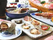 和夕食コース☆1品1品手作りで丁寧に調理しています。