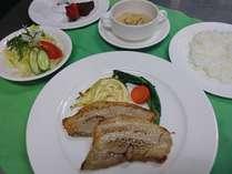 【一関ハーブサミット直前限定】ご夕食は館ヶ森高原豚のスパイス焼き(2食付き)
