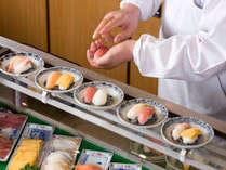 バイキング料理の実演コーナーにはなんと握りたてのお寿司が!!