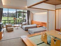 和洋室は3世代家族やグループには最適。最大6名様まで宿泊OK!