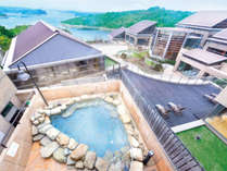 伊勢志摩温泉「ともやまの湯」男性露天風呂