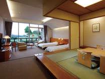 洋間と和室を備えた和洋室は家族旅行で人気のお部屋タイプです