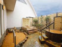 展望露天風呂からの眺めは格別です。