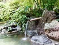 【露天風呂】単純温泉。内湯と違う泉質が愉しめる♪