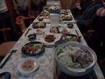 夕食例(10名連泊メニューから)