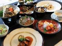 信州サーモンなど地元食材を取り入れた和洋折衷コース
