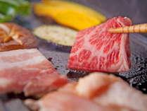 【ご夕食】≪特選黒毛和牛の焼肉≫厳選された牛・豚・鶏を焼肉で♪