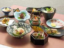料理長こだわりの特別懐石料理をお楽しみください(一例です)