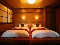 【山茶花】全和洋室のベッドマットに『エアウィーブ』を採用。至福の睡眠で心もカラダもリセット♪