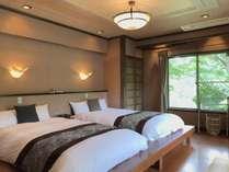 客室【山茶花】緑に囲まれた解放感溢れる人気のお部屋です。