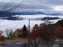 当館から見える雲海の様子。とてもキレイです♪