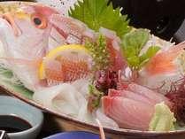 料理アッププランのメインは、鮮魚の5種盛です♪~内容は、当日の仕入れ等で変わります♪