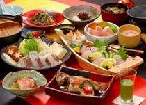 四季味わい懐石 一例 刺身・鍋は2人前。