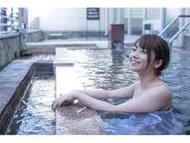 【金印の湯・露天風呂】いい湯だな~!温泉からの景色も最高!