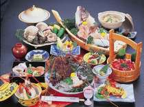 ≪あわらぎ膳≫記念日やお祝いにもオススメ!●伊勢海老姿造り付●売れ筋No.1の人気会席です♪