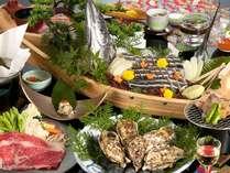 ■離宮会席■地産地消にこだわった今が旬の食材を盛り沢山ご用意