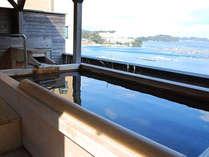 とても眺めが良いと人気の『貸切露天風呂』。