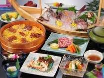 2011年夏・涼風御膳(一例):目にも涼しげなお料理をお楽しみください
