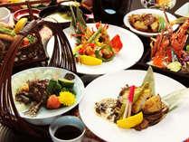 舌で味わって、見て楽しんで下さい。見た目にも綺麗なお料理の数々!!