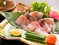 四種の伊豆海鮮しゃぶしゃぶ:【口福特撰】メイン料理一品目