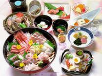 *目の前の日本海から届く新鮮魚介類