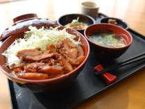 [日替わりお手軽無料夕食]鶏の照り焼き丼セット