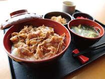 [日替わりお手軽無料夕食] 豚すき焼き丼セット