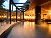 平成29年6月大浴場リニューアル!大きな窓で開放的です。