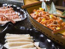 【和洋70品バイキング】北海道ならではの美味しいお刺身。ご飯にのせて海鮮丼にも。