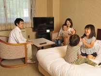 【聴水閣和洋室】ベッド派にもお布団派にもうれしい広々とした和洋室