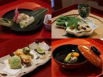 *【割烹 新多久・お料理一例】村上の四季を感じられる、上品な味わいのお料理
