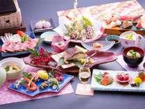 2018春会席「華彩」総料理長が自ら厳選した旬の食材を使用した春会席です