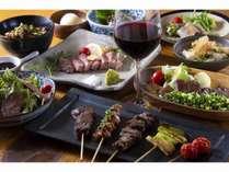 夕食提携店「牛串 ぶんぞう」ボリューミーお肉づくしな5,400円コース♪