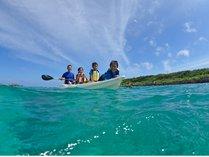 【感動体験カヤックツアー】条件がよければカヤックの上から熱帯魚が見られることも。