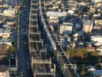 東側客室から見える新幹線(イメージ)