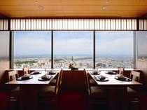和食堂・山里からの眺望(イメージ)高層階31階からの景色とお料理をご堪能ください。