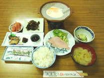 しっかり食べられる定番の和朝食になります。