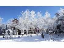 ペンション外観(冬)