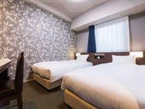 【全室禁煙】ツインルーム(15平米・ベッド幅100cm×2台)