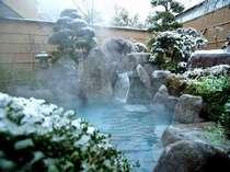 雪見露天風呂 一冬に数日限りの雪景色