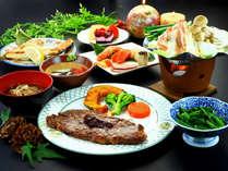 【夕食】和洋折衷の創作コース料理です