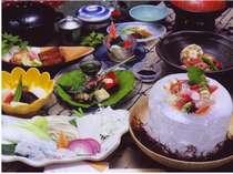 梅乃屋のお料理は全て手作り♪1品1品真心をこめておつくりしております。(※写真は夕食一例です)