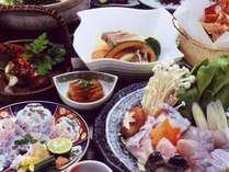 味の宿もいよいよふく料理開始♪(季節一例)