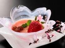 デザートも一つ一つが調理人の手作り♪春には桜や苺など女性にとってはうれしいスイーツも日替わりで登場♪