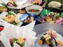 一品一品の食材の新鮮さが際立つお料理。どの品も全てが手作りでご用意いたしております。(一例)