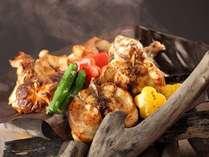 とらふぐフルコースで大人気の【七厘焼き】 温かいうちにお召し上がりください。