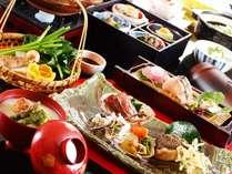 一品一品の食材の新鮮さが際立つお料理。どの品も全てが手作りでご用意いたしております。(春料理例)