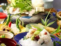 ◆料理長の熟練の技で丁寧に骨切りされた活きハモ。柔らかな食感がたまらない!